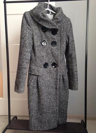Зимнее шерстяное пальто хс-с утепленное. украинский производитель