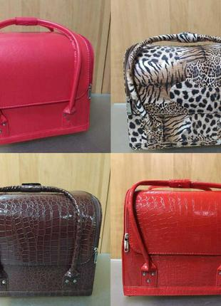 Сумка чемодан для косметики, сумка для майстра,  кожзам