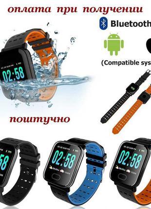 Умные Smart Watch смарт фитнес браслет часы трекер A6 А6 Plus ...