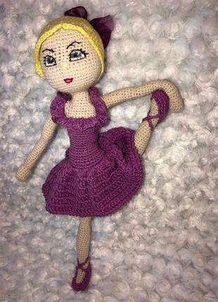 Кукла Балерина вязаная крючком
