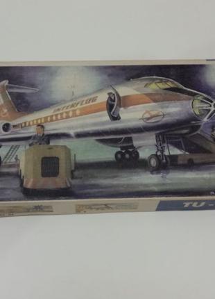 Ту-134 сборная модель самолета Plasticart 1/100 ГДР
