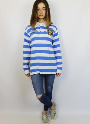 Оригинальная полосатая polo поло футболка с длинным рукавом, к...