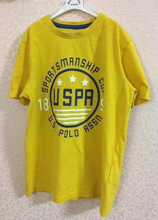 Футболка u.s.polo assn для мальчика 10-11 лет.