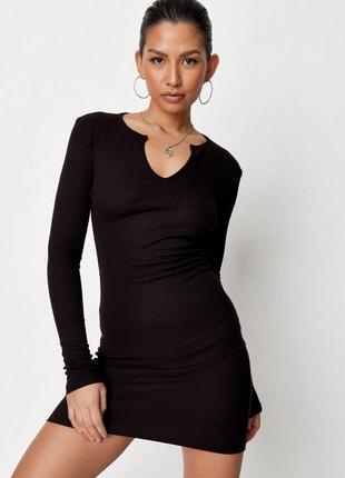 Трикотажное базовое мини платье