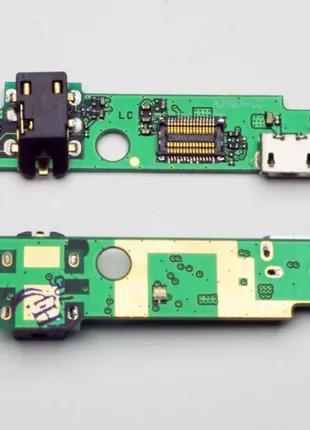 Плата Lenovo A2107/ A2207 с разъемом зарядки, разъемом наушников