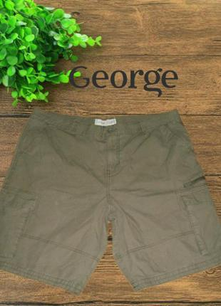 🐾🐾george 42w карго мужские шорты хлопок оливка большой размер🐾🐾
