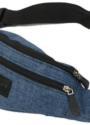 Сумка на пояс wallaby 2906 синий джинс барсетка через плечо ба...
