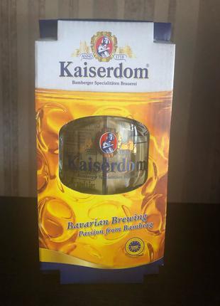 оригинальный подарок бокал 1л бокала под пиво и немецкое пиво ж/б