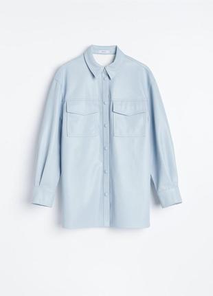 Сорочка зі штучної шкіри куртка рубашка кожа