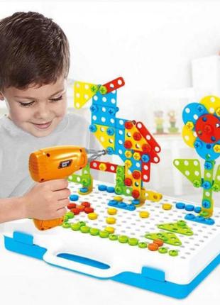 "Конструктор Tu Le Hui ""Creative Puzzle"" 4в1 чемодан 193 детали"