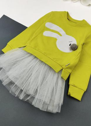 Детский комплект платье и кофта