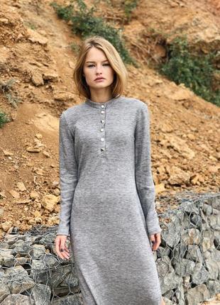 Трикотажное платье / миди