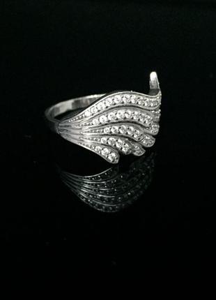 Кольцо серебряное, крыло ангела