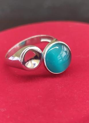 Кольцо серебряное  с улекситом