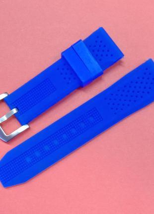 Ремешок для часов из каучука синего цвета