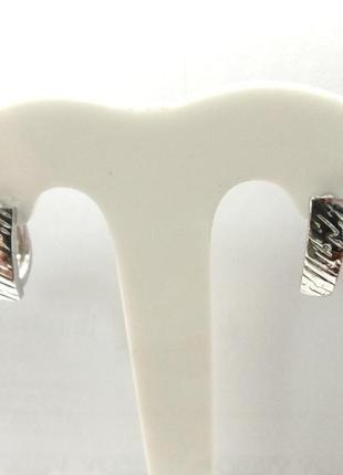 Женские серебряные серьги штамп с английской застежкой