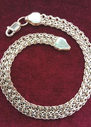 Золотой ажурный женский браслет плетением фараон
