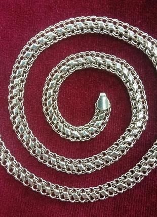 Мужская цепочка плетением черепаха ширина 7 мм