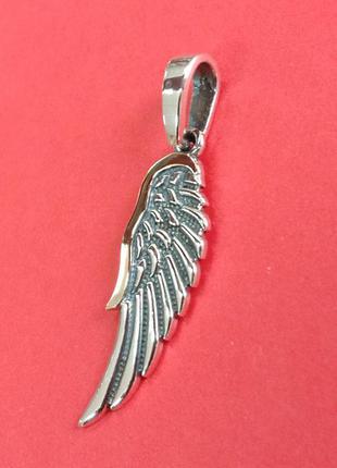Кулон подвеска - крыло ангела из серебра с золотой накладкой -...