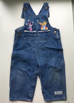Комбинезон детский, джинсовый комбинезон, с винни пухом и пята...