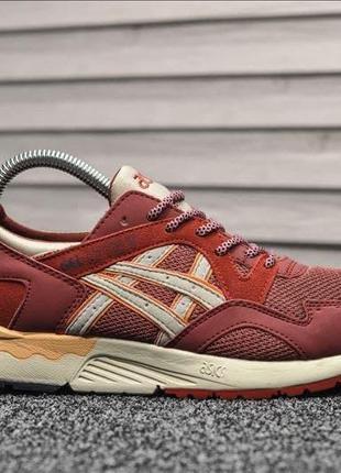 Asics gel lyte v red классные женские кроссовки