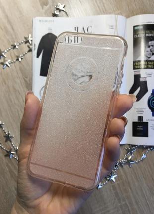 Чехол на iphone 6/6s , нежно розовый, силикон