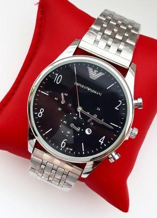 Часы мужские, кварцевые, модные, металичиские, под серебро
