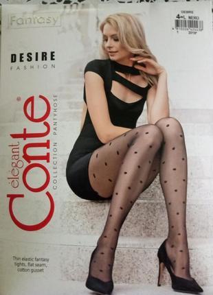 Conte desire фантазийные колготы черный горошек,есть размеры,р...