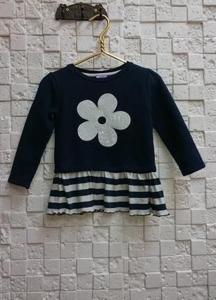 Платье f&f тёплое для девочки 2-3х лет