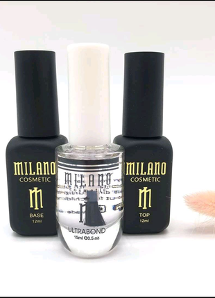 База Milano 12мл+ Топ Milano 12мл+ Ультрабонд Milano 15мл