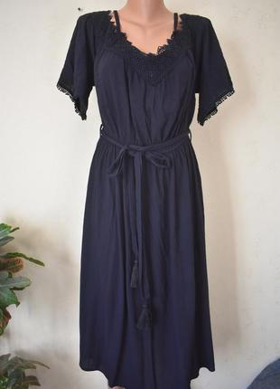 Распродажа!!!новое натуральное платье с кружевом new look