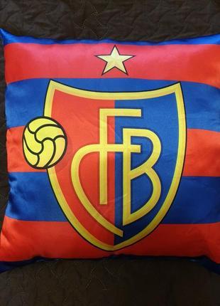 Fcb, подушка декоративная, сувенирная.