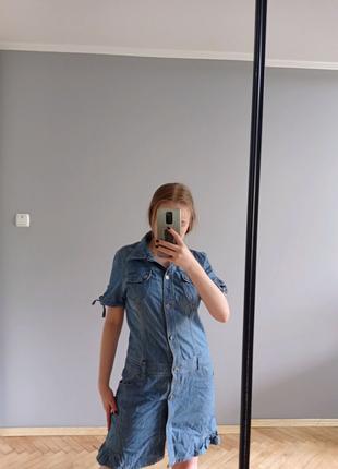Джинсовый сарафан, летний сарафан, платье джинсовое, платье на пу