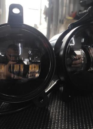 Противотуманные 2шт LED Фары Линза с ДХО и поворотом D=100мм...