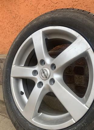 Продам 4 титани Enzo R16 з резиною Goodyear volkswagen Skoda Audi