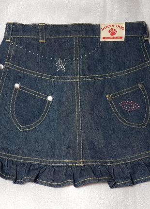 Юбка джинсовая с украшениями для собак средних и крупных пород
