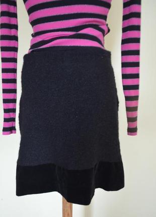 Шикарная теплая шерстяная юбка черная