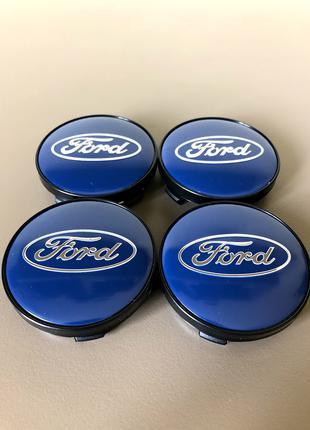 Колпачки Заглушки На Диски Ford Форд 60mm синие