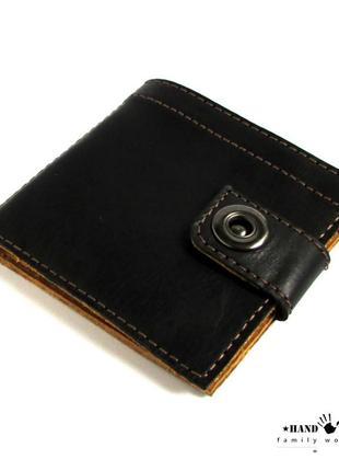 Мужской кошелек из натуральной кожи ручной работы.