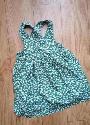 Платье сарафан mini club на 6-9 мес
