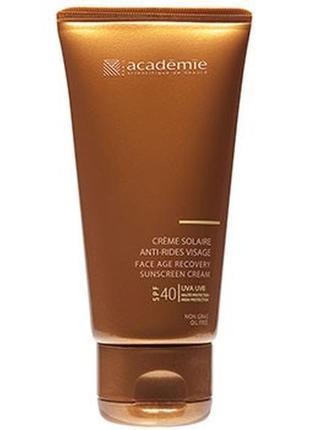 Солнцезащитный регенерирующий крем academie bronzecran face ag...