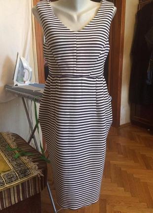 Стильное платье в полоску,трикотаж от boden