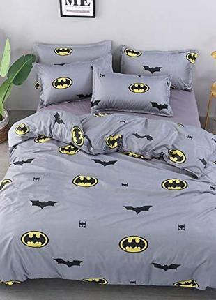 Постільна білизна/постельное бельё: бэтмен 🦇 batman на сером