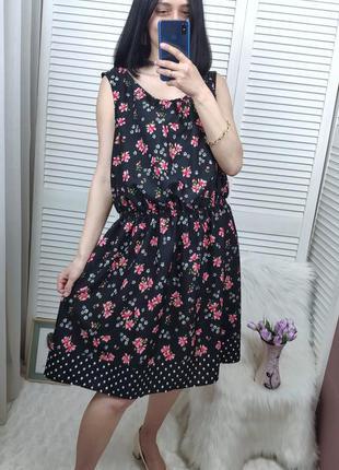 Платье в цветочный принт new look, uk 20