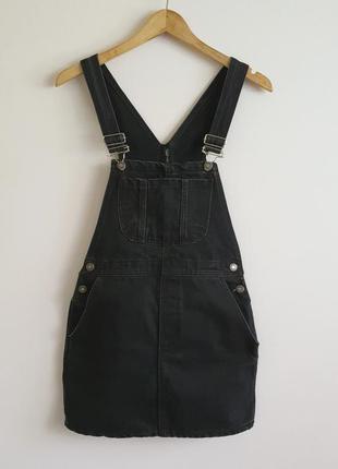 Стильный комбинезон комбез юбка сарафан джинсовый