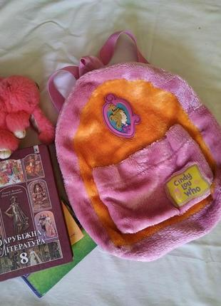Плюшевый рюкзак шубка меховой рюкзак