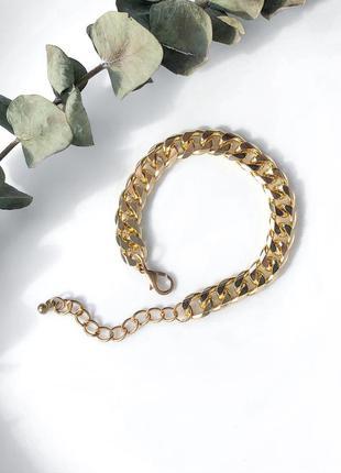 Браслет  на руку женский цепь в золоте мед сплав
