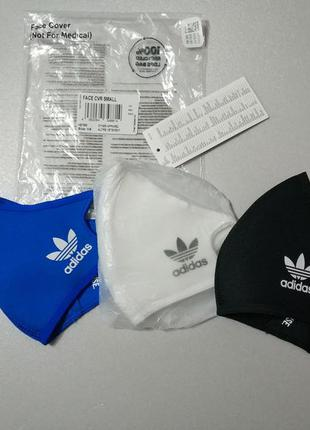 Набор 3 шт многоразовая маска размер small унисекс adidas...