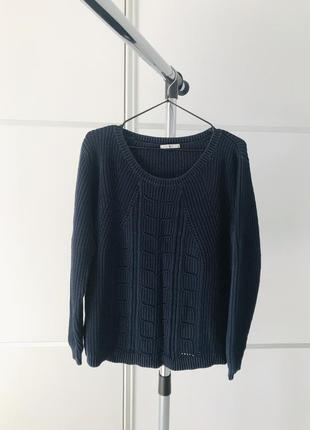 Тепла кофта, свитер, темно синий свитер, кофта тепла темно синий