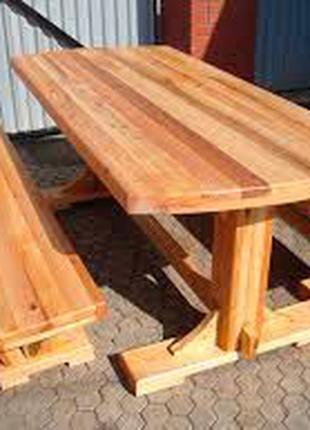 Садовый набор стол+скамейка